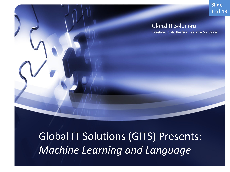 Machine Learning and Language